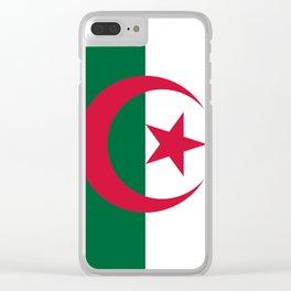 Algeria Flag Clear iPhone Case