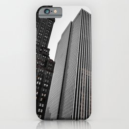Grey Glass Buildings iPhone Case
