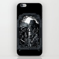 lotr iPhone & iPod Skins featuring There and Back Again by Fuacka