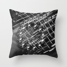 Playing around with an electric guitar Throw Pillow