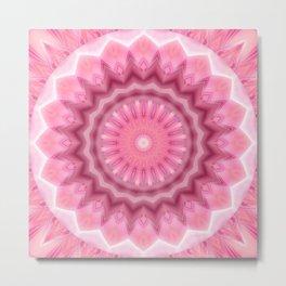 Mandala pink and white no. 2 Metal Print
