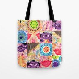 vibrant playful rhythm Tote Bag