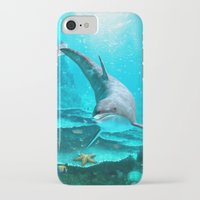 dolphin iPhone & iPod Cases featuring Dolphin by Simone Gatterwe