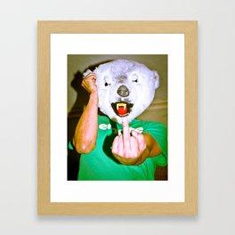 F U Bear Framed Art Print