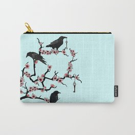 Ravens on cherry tree Carry-All Pouch