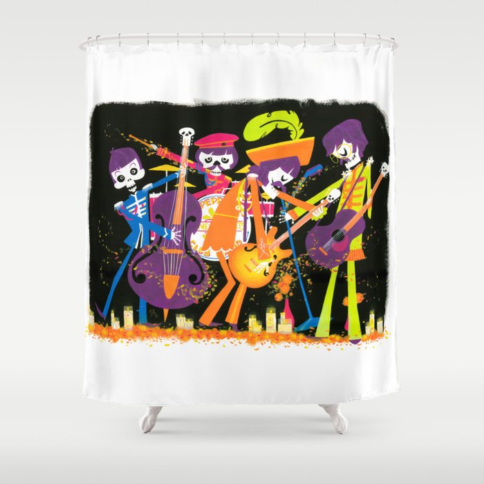 The Lonely Dead Hearts Shower Curtain By Islasmowin