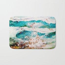Abstract Waves Splatter Bath Mat
