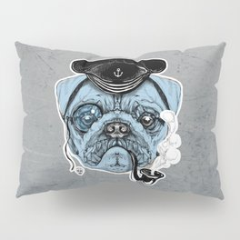 Sailor Pug Pillow Sham