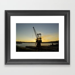 The Forgotten Crane Framed Art Print