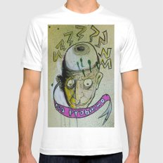 no problemo MEDIUM White Mens Fitted Tee