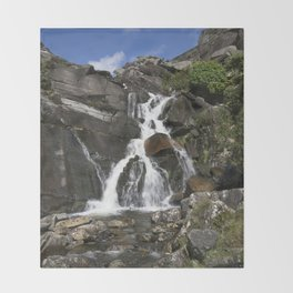 Tanygrisiau Waterfall Throw Blanket