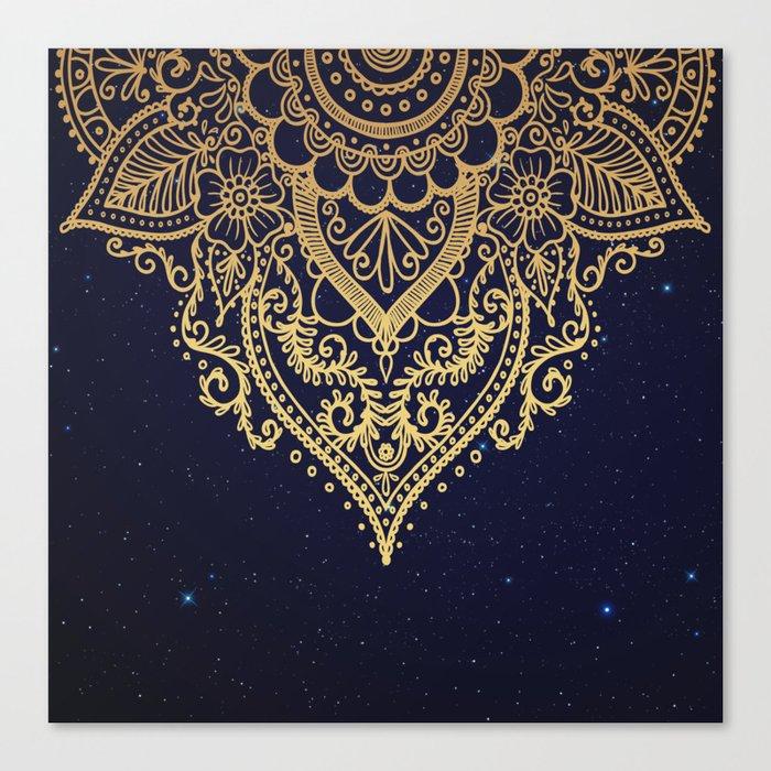 MANDALA IN STARRY NIGHT Canvas Print