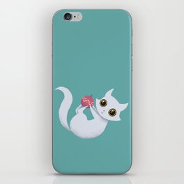 Mischievous kitty iPhone Skin