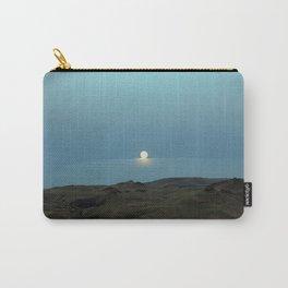 Oregon.Moonrise.Owayhee Canyonlands.Full Moon Art. Blue. Sky Carry-All Pouch