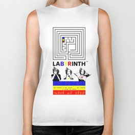 SSHNE LABYRINTH: ASL ,MORSE, BRAILLE on BANNERS Biker Tank