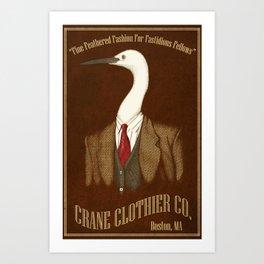 Crane Clothier Co. Ad Art Print