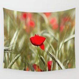 Hot Poppy Wall Tapestry