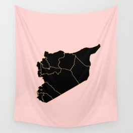 Syria map Wall Tapestry