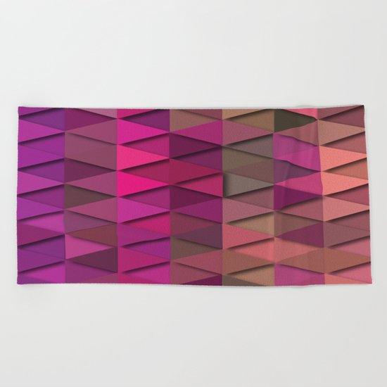 Purple Party Beach Towel
