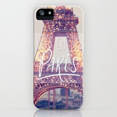 let's go to paris iPhone (5, 5s) Slim Case