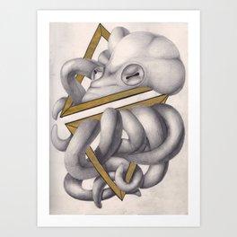 Geometric Octopus Art Print