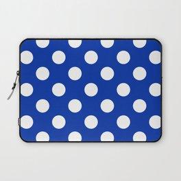 International Klein Blue - blue - White Polka Dots - Pois Pattern Laptop Sleeve