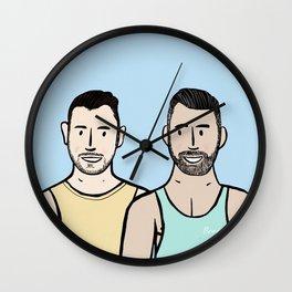 Beard Boy: Jonny & Anthony Wall Clock
