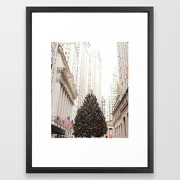 XMAS IN NEW YORK Framed Art Print