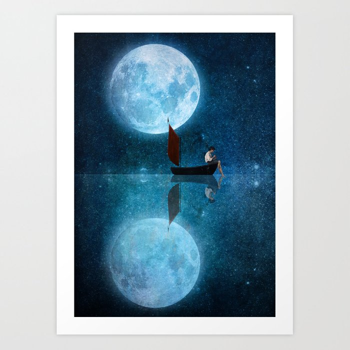 The Moon and Me Art Print