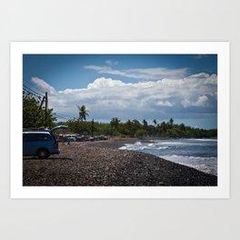 Maui beach scene Art Print