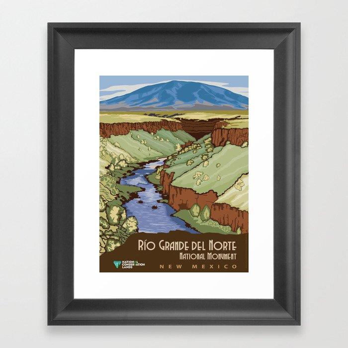 Vintage poster - Rio Grande Del Norte Gerahmter Kunstdruck