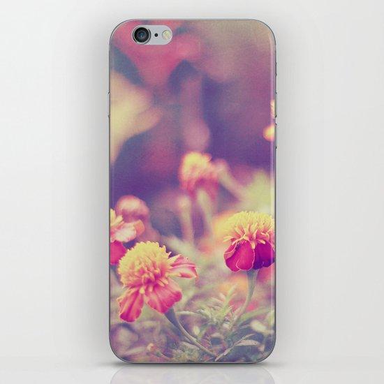 Retro Vintage style - flowers iPhone & iPod Skin