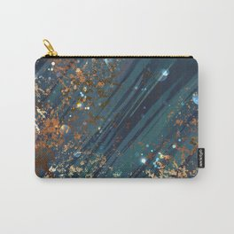 Blue background with bronze Carry-All Pouch