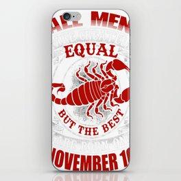 Best-Men-Are-Born-on-November-10---Scorpio---Sao-chép iPhone Skin
