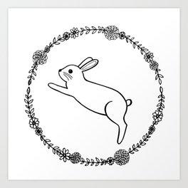 Hopping bunny Art Print
