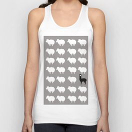 Don't be a sheep, Be a Llama Unisex Tank Top