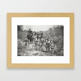 Hounds Framed Art Print