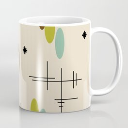 Ovals and Starbursts Colorful 3 Coffee Mug