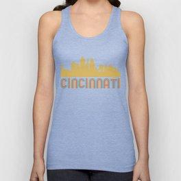 Vintage Style Cincinnati Ohio Skyline Unisex Tank Top