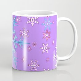 LILAC PURPLE WINTER SNOWFLAKES Coffee Mug