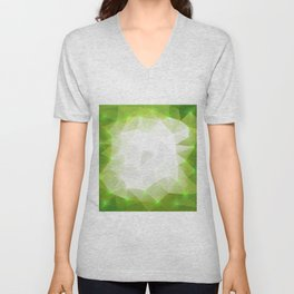 Abstract triangle background Unisex V-Neck