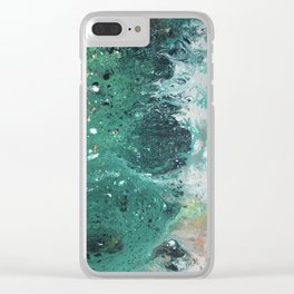 Mountain runoff Clear iPhone Case