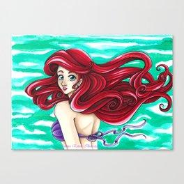 The little mermaid - Ariel Canvas Print