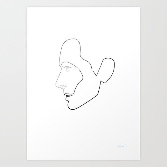 One Line Tilda Swinton Art Print