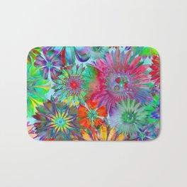 Rivalry of Flowers - multicolor Bath Mat