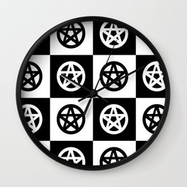 Pentacles On Tile Wall Clock