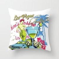 las vegas Throw Pillows featuring Las Vegas by Tshirt-Factory