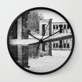 Egyptian Temple Wall Clock