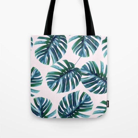 Monstera Pattern #society6 #decor #buyart Tote Bag