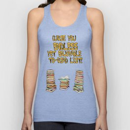 Endless to-read List Unisex Tank Top